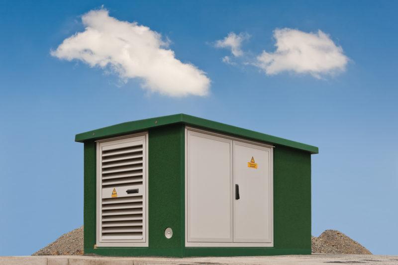 Montage von Kompaktstationen